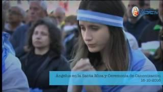 Ángelus en la Santa Misa y Ceremonia de Canonización 16-10-2016