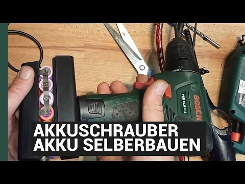DIY: Lithium Battery Conversion 18650 - BOSCH ERSATZAKKU SELBER BAUEN 8,8AH