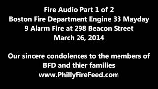 Boston Fire Department Mayday, 2-26-14, Part 1