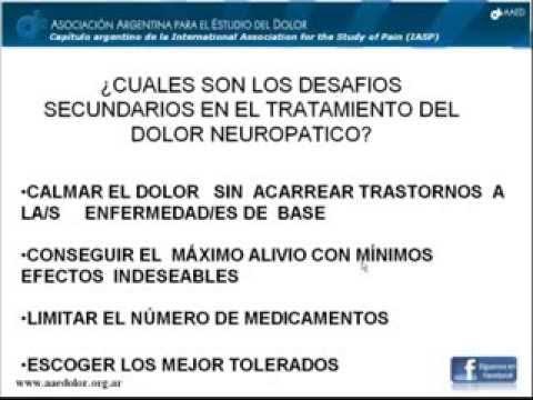 """Demostración de una clase sobre el tema: """"Tratamiento farmacológico del dolor neuropático"""" dictada para el Curso de Actualizació"""