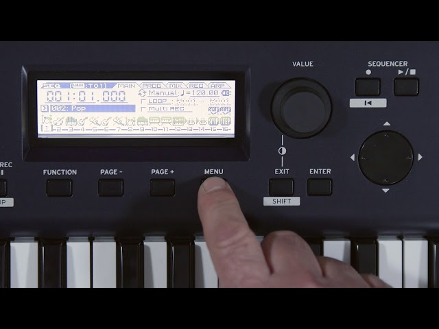 KROSS 2  Video Manual Part 6: Recording a MIDI Sequence