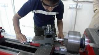 preview picture of video 'Lathe Machine In Uet Taxila  Chakwal Campus Pakistan By MCT 2k11.AVI'