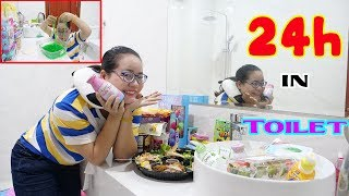 THỬ THÁCH 24 GIỜ SỐNG TRONG TOILET | 24H IN TOILET CHALLENGE