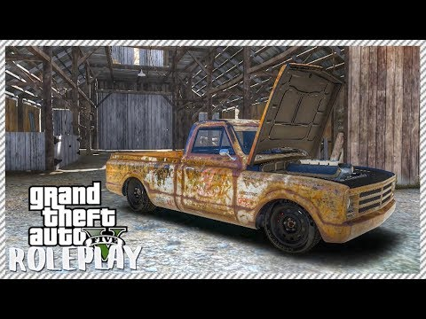 GTA 5 ROLEPLAY - AMAZING RUSTY OLD FARM TRUCK FIND | Ep. 140 Civ