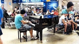 Crazy Piano Improvisation Airport Malta