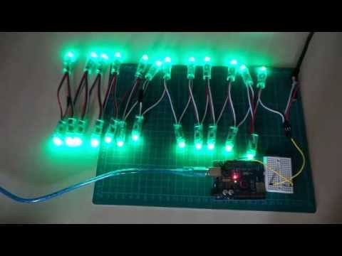 AsyncLedStripEffects - using a timer interrupt to run effects on an LED array