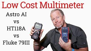 Low Cost Digital Multimeters Versus A Fluke