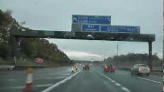 preview picture of video 'Driving On The M62 Motorway From J10 M6 Interchange To J6 Widnes, Merseyside, England'