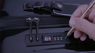 How to set lock combination on your new Tumi