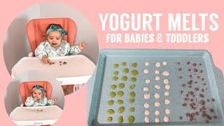 YOGURT MELTS FOR BABIES - BABY LED WEANING - TEETHING RELIEF