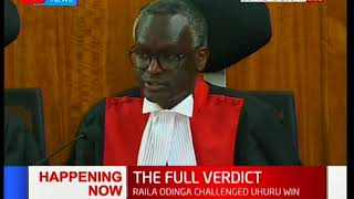 THE FULL VERDICT: The Supreme court judge, Isaac Lenaola reads out the majority judgement