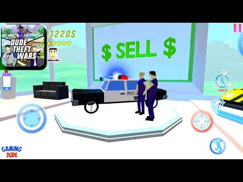 Dude Theft Wars: Open World Sandbox Simulator BETA - Police Cars | Android Gameplay HD