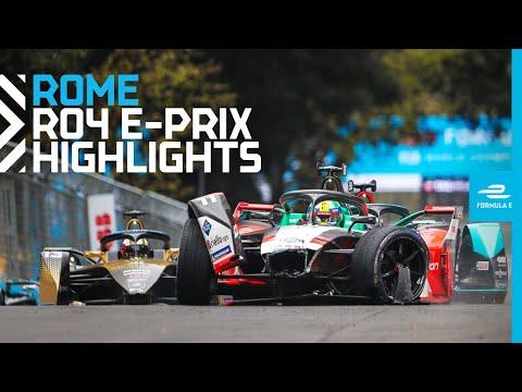 フォーミュラE ローマ(イタリア)第4戦のレースハイライト動画