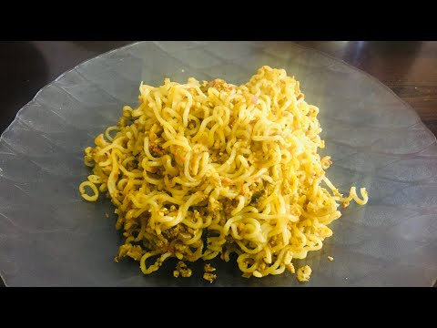 Dry Maggi/instant egg noodles recipe /2mins cooking recipe/ fast forward cooking videos/