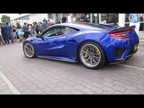 Blue Acura NSX w/ Vorsteiner Wheels