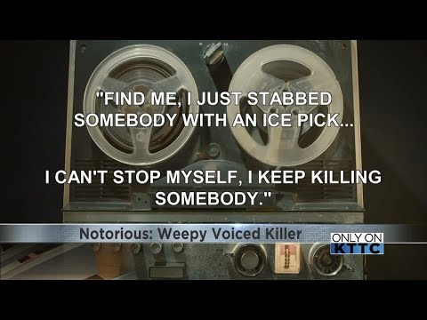 NOTORIOUS: The weepy voiced killer