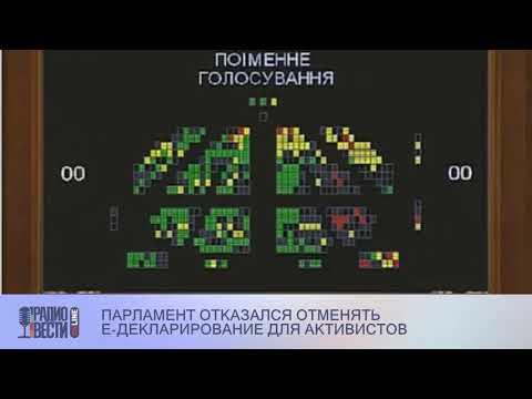Парламент отказался отменять е-декларирование для активистов