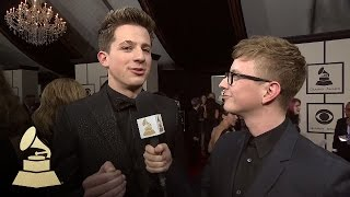 Charlie Puth with Tyler Oakley | Red Carpet | 58th GRAMMYs