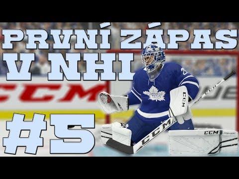 NHL 19 | KOBLIH GOLMANEM #5 | 1. ZÁPAS V NHL! | CZ/SK