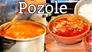 POZOLE ROJO AUTHENTIC MEXICAN STYLE RED POZOLE SOUP DRIED CHILI S PORK AND HOMIY
