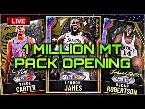 NEW NBA IS BACK PACKS! GOAT LEBRON JAMES INCOMING! GOAT VINCE CARTER!  NBA 2K20 MYTEAM LIVE STREAM
