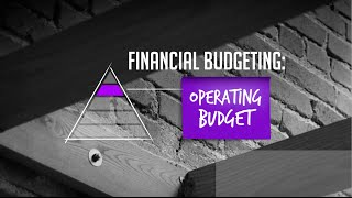 The Art Of Startup Finance: Financial Budgeting - Your Operating Budget
