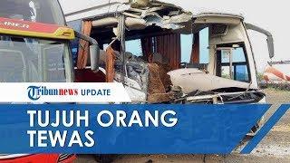 VIDEO 2 Bus Terlibat Kecelakaan Maut di Tol Cipali, 7 Orang Dikabarkan Meninggal Dunia