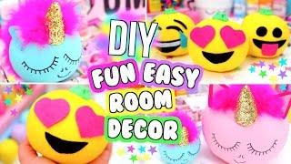 DIY ROOM DECOR HOW TO MAKE CUTE ROOM DECOR!