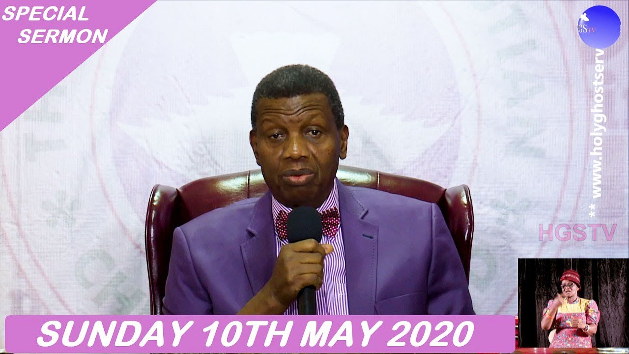 RCCG 10th May 2020 Special Sunday Service