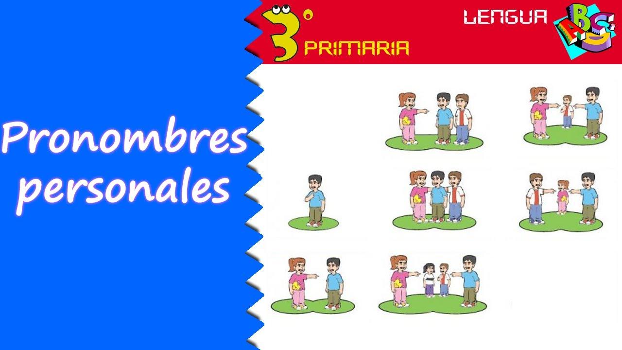 Lengua Castellana. 3º Primaria. Tema 7. Los pronombres personales