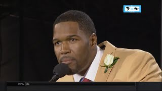 Michael Strahan Hall of Fame Speech | LIVE 8-2-14