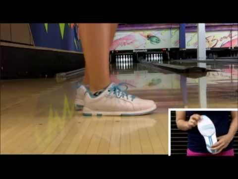 Brunswick Womens Satin White Aqua Bowling Shoe Product Video by Bowlerstore com