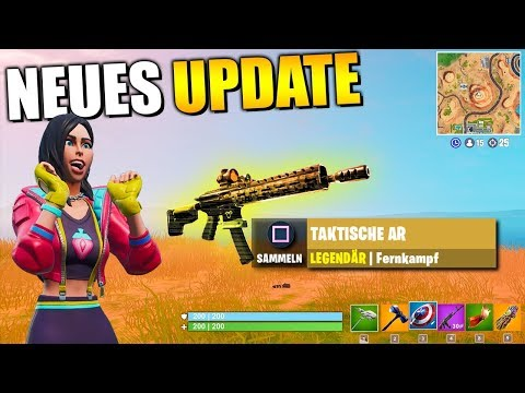 NEUES UPDATE 😱 Taktische AR Gameplay, Patch Notes, Leaks, News | Fortnite Deutsch