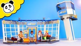 Playmobil Film - Der Große Playmobil Flughafen - Spielzeug Auspacken & Spielen - Pand