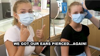 We Got Our Ears Pierced...Again ~ Jacy And Kacy