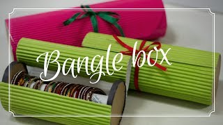 How To Make Bangle Box At Home   Bangle Storage Box   Cookie Box Tutorial