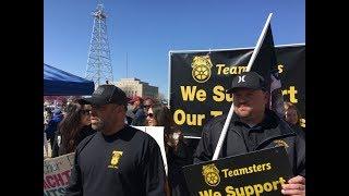 США День 3 Протест Учителей штата Оклахома Капитол Хилл Поддержка Тимстерс