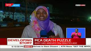 Developing Story: Body of the late MCA Cyrus Omondi has arrived in the country from Mumbai