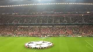 preview picture of video 'Bayern - Manchester City - Einlaufen der Teams'