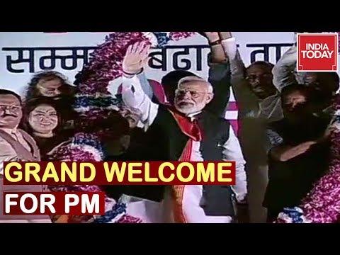 पीएम नरेंद्र मोदी नई दिल्ली में अमेरिका से ग्रैंड वेलकम के लिए पहुंचे