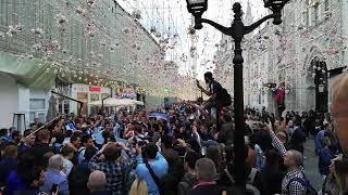 Fanáticos argentinos en Moscú. Argentine fans in Moscow. Аргентинские фанаты в Москве.