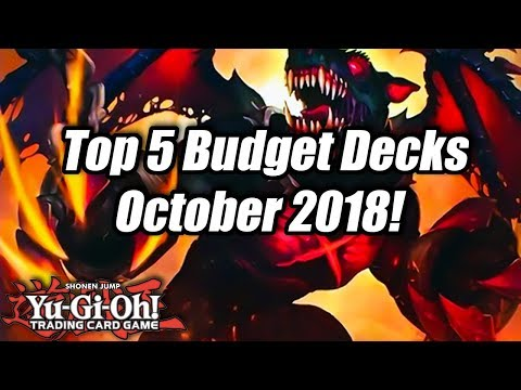 Yu-Gi-Oh! Top 5 Competitive Budget Decks for the October 2018 Format!