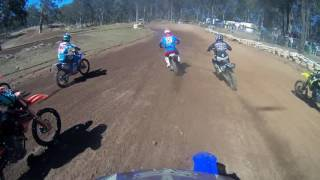 Cessnock MX First Turn Crash