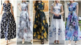 Gorgeous And Beautiful Stylish Printed Long Dress /Maxi Dress Design