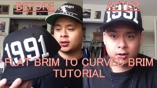 How To Turn Flat Brim Hats Into Curved Brim Hats (Easiest and Fastest Way)