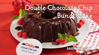 chocolate chip bundt cake with cake mix and sour cream