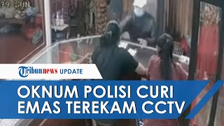 Detik-detik Oknum Polisi Curi Emas di Pasar Tabanan, Berpura-pura Mau Beli lalu Gasak 3 Cincin