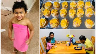 USA Tamil vlog | Our night time weekday routine | 10 min easy dinner recipe | lia playing