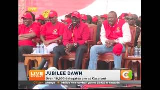 Young Ryan moves crowd at Jubilee Party launch, Kasarani