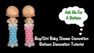 Baby Shower Mini Balloon Columns - Balloon Decoration Tutorial